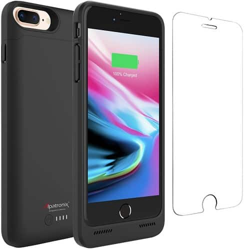 40% OFF iPhone 8 Plus Battery Case with Qi Wireless Charging - $29.97