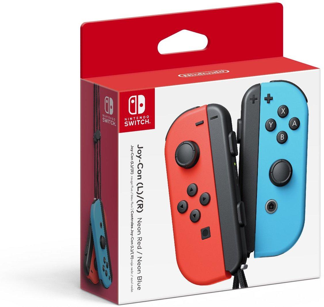 Nintendo Switch - Joy-Con (L/R)-Neon Red/Neon Blue $64.59 - Amazon
