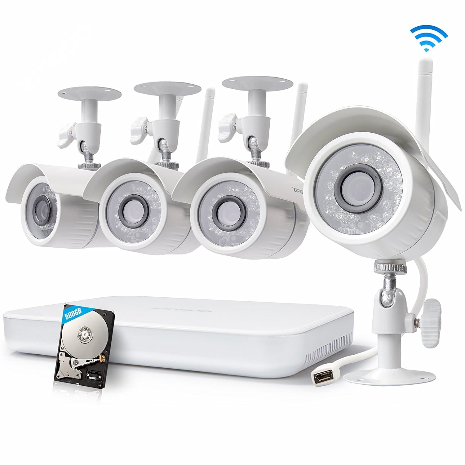 Cyber Monday Flash Sale!  Zmodo 8CH Wireles Security Camera System - 1080P HDMI NVR with 500GB Hard Drive, 4 x 720P HD Indoor/Outdoor Wireles Cameras Night Vision - @Amazon $149.99