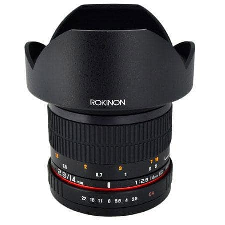 Rokinon 14mm f/2.8 IF ED UMC Lens for Canon (and other mounts) $249