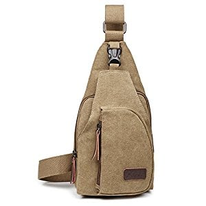 (50% off ) OuterStar Casual Canvas Sling Backpack Chest Bag $6.99 @Amazon