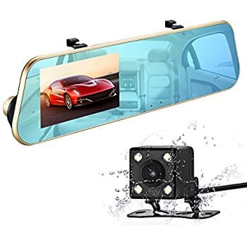 720P HD Car Video Recorder Mirror Dash Cam Rearview G-Sensor, Loop Recording, 140 Degrees $31.27 @Amazon +FS