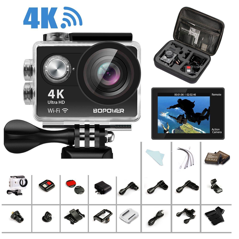 "GooBang Doo 4K Action Camera, Bopower 60fps WIFI Sport Anti-Shake Waterproof Camera with 2.4G RF Remote, Full HD 2.0""Display 46.79 @Amazon +FS $46.79"