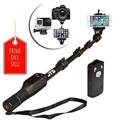 Self Portrait Selfie Stick Pole, Aluminum Alloy Pole with Bluetooth Remote Control $7.99