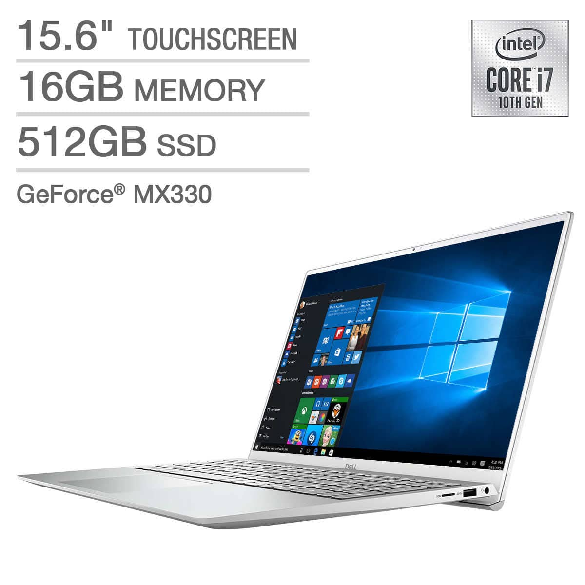 "Dell Inspiron 15"" 5000 Series Touchscreen Laptop - 10th Gen Intel Core i7-1065G7 - GeForce MX330- 1080p $799.99"