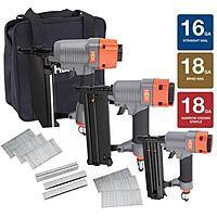 Home Depot Deal: Home Depot 3-Piece Pneumatic Finish Nailer Kit $25.02 B&M YMMV only!!