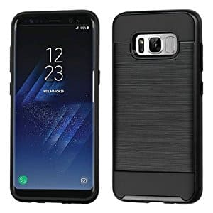Samsung Galaxy S8/S8 Plus Brushed Metal Texture Case $3.99