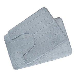 Besthome Non-slip Bathroom Mats Washable U-shape Toilet Memory Foam Bath Rugs Set of 2 $14.99