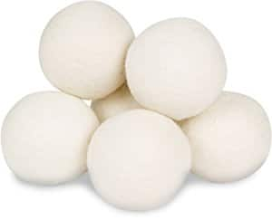 Wool Dryer Balls by Smart Sheep 6-Pack, XL Premium Reusable Natural Fabric Softener 11.95 (Amazon Lightning Deal) $11.95
