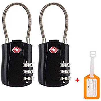 2-Pack BV TSA-Accepted Travel Locks $9.99 at Amazon