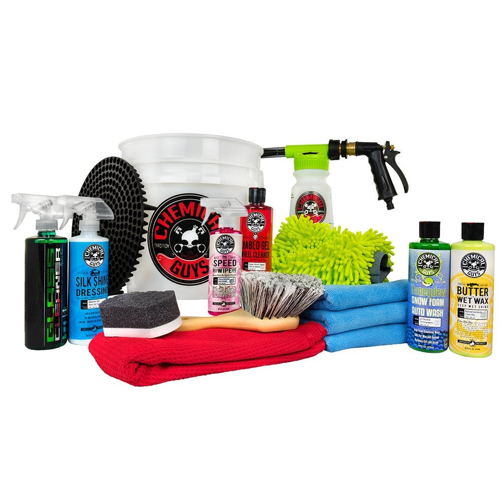 Chemical Guys HOL148 16-Piece Arsenal Builder Wash Kit with TORQ Blaster Foam Gun, Bucket and (6) 16 oz Care Products - $64.39