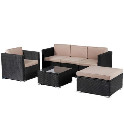 Patio Wicker Furniture Sets, 6pc Rattan Sofa Conversation for $279.99