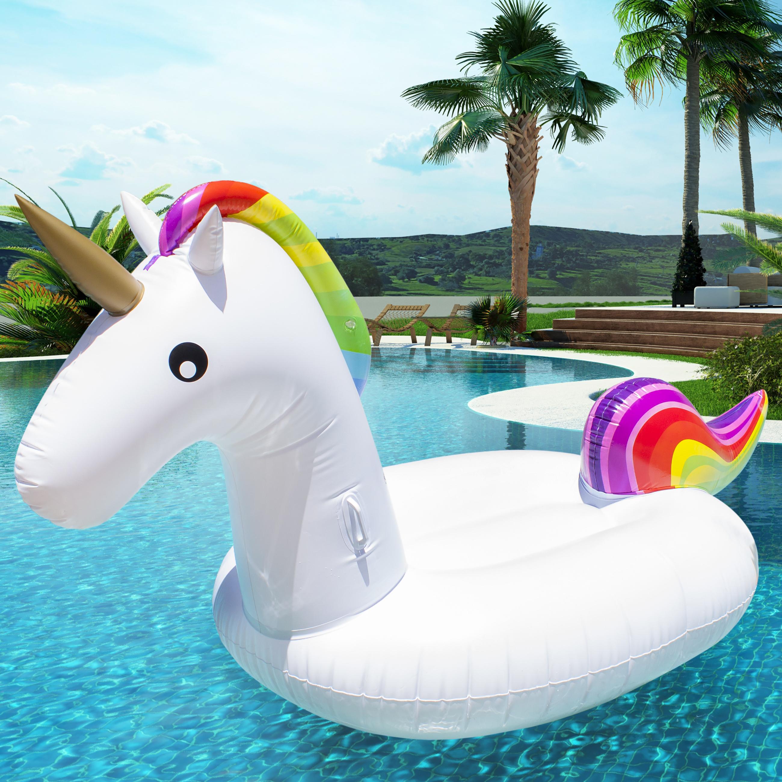 Giant Rainbow Inflatable Unicorn Pool Float Toy @WalMart.com - Was $130 $29.99