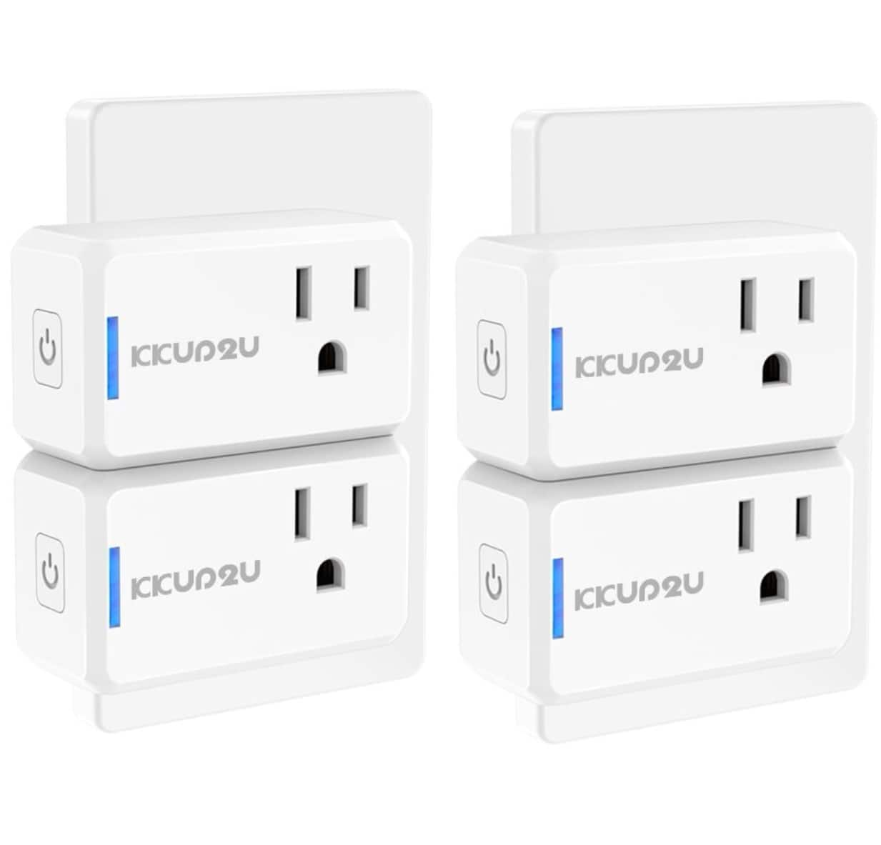 KKUP2U Smart Plug Upgraded Mini WiFi Smart Socket Outlet Work with Amazon Alexa Echo/Google Assistant and IFTTT, No Hub Required $7.76