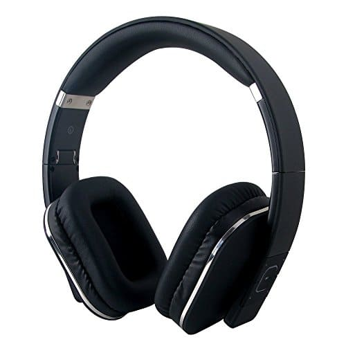 August EP650 Bluetooth Wireless Over Ear Headphones with Multipoint/NFC/3.5mm Audio In/Headset Microphone - Black $32.89