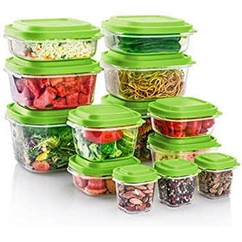 ME.FAN Food Storage Containers, BPA Free - Reusable - Multipurpose Use for Home Kitchen 26-Piece Set, Grass Green $10.34
