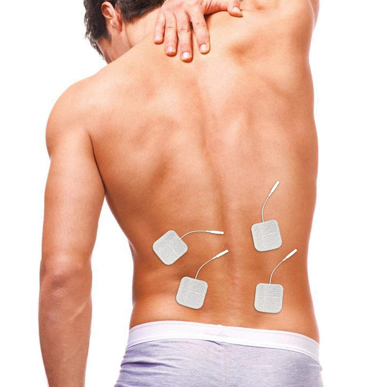 "DONECO 2"" Square TENS Unit Electrodes, 48-Pack Electro Pads for TENS Therapy - Universally Compatible with Most TENS Machine Models - 48-Piece Value Pack - $14.81"