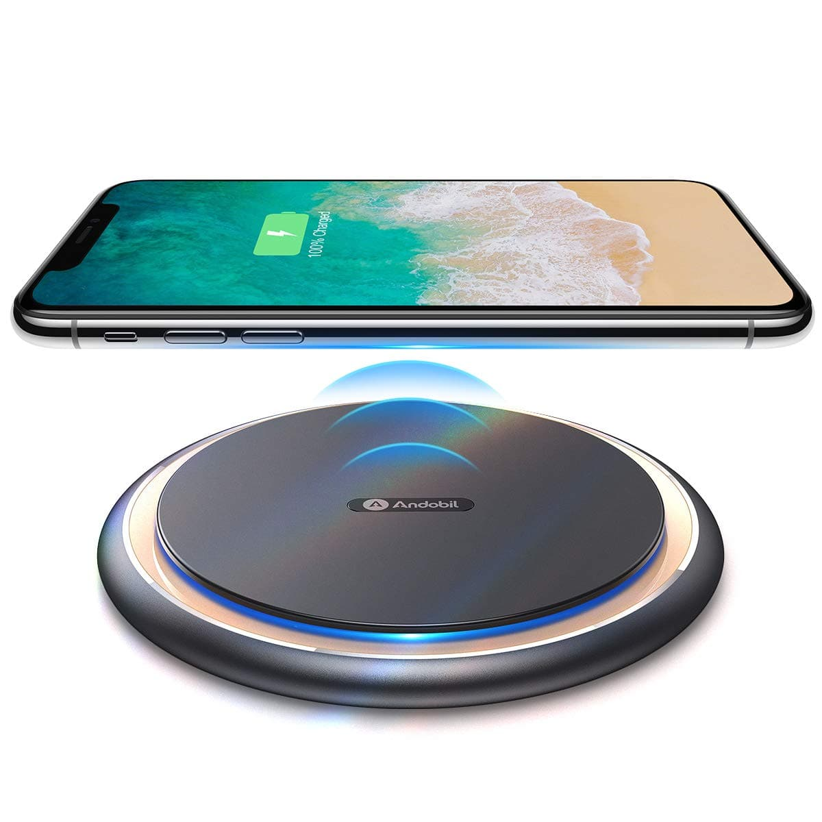 Andobil Boost 15W Fast Wireless Charger, USB-C Qi Certified For Phone $23.99