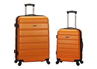 Rockland Luggage 20 Inch and 28 Inch 2 Piece Expandable Spinner Set - Orange - $67 - Amazon