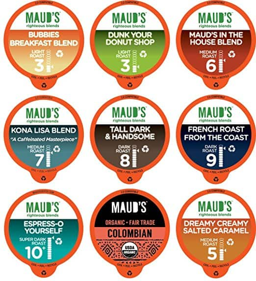 80 Count Variety Pack - Maud's Gourmet Coffee Pods-Single Serve Coffee Pods - Kcup Compatible, Including 2.0 For $24.99 @ Amazon