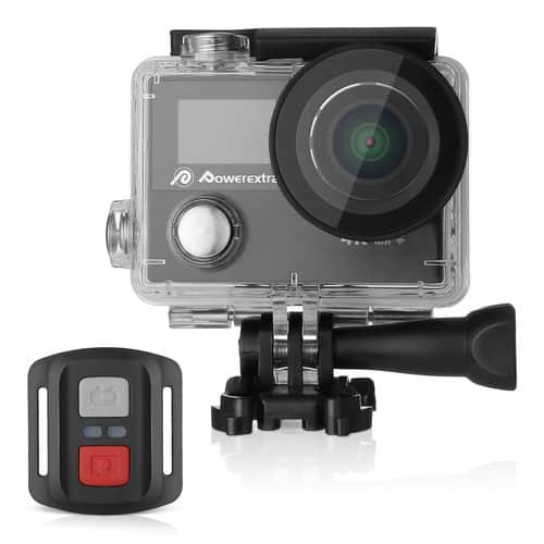 Powerextra 4K Action Camera 12MP Ultra HD with Built-in WiFi 170 Degree Wide Angle Lens $38.99