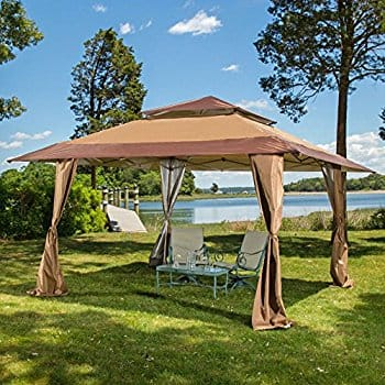 Outdoor Pop Up Canopy Patio Instant Canopy Tent Double Roof Vented UV Protected Brown Tan $124.99 & Outdoor Pop Up Canopy Patio Instant Canopy Tent Double Roof Vented ...