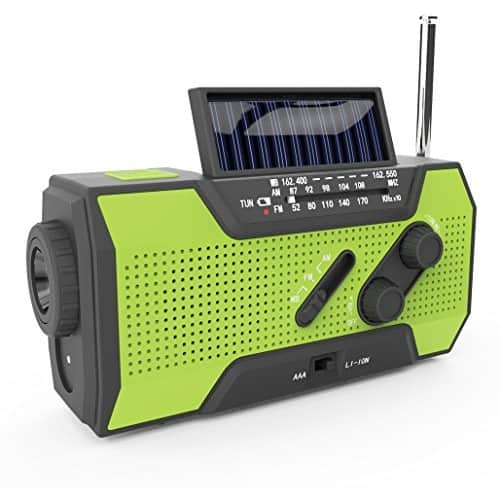 RunningSnail Solar Crank NOAA Weather Radio For Emergency with AM/FM $20.93
