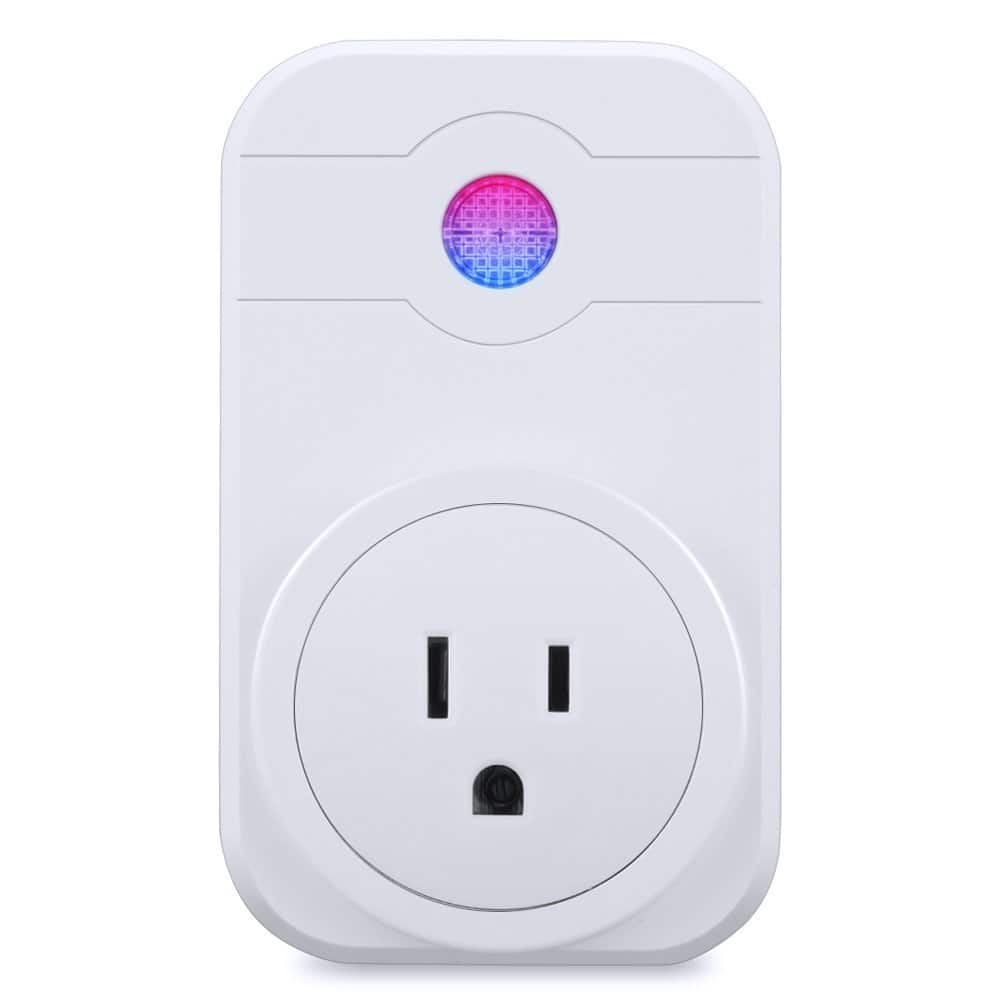 Wifi Smart Plug US Outlet Timmer Switch Energy Monitoring Compatible Amazon Alexa Echo Google Assistant $6.99