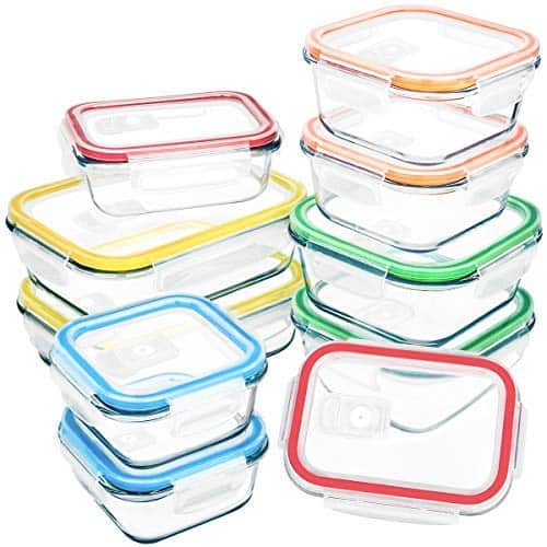 10 Packs Glass Food Storage Container With Lids 21 59