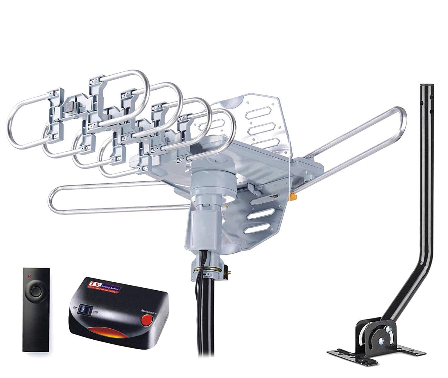 pingbingding HDTV Antenna Amplified Digital Outdoor Antenna with Mounting Pole $28.19