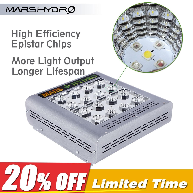 Mars Pro II Epistar 80 Best LED Grow Light @mars-hydro $123.89