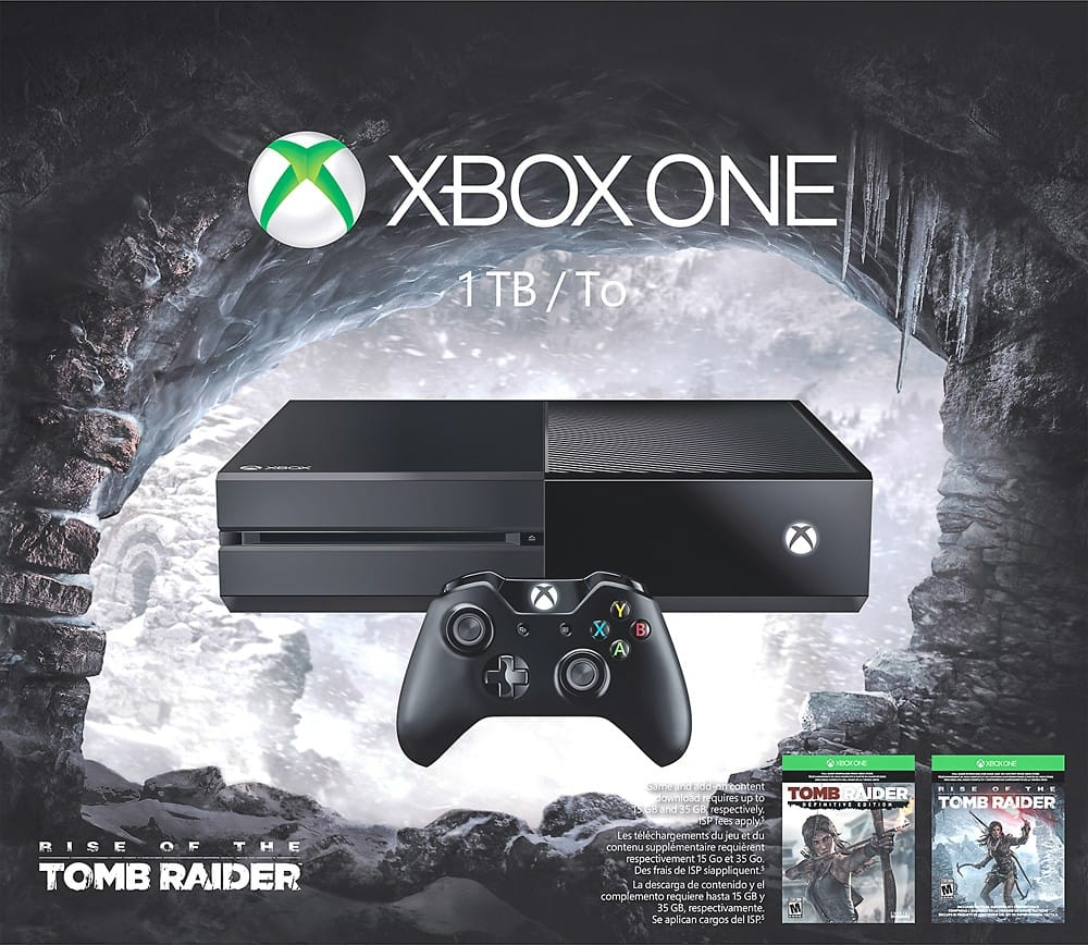 Best Buy: Xbox One 1TB - Rise Tomb Raider Bundle + $50 gift card - $350