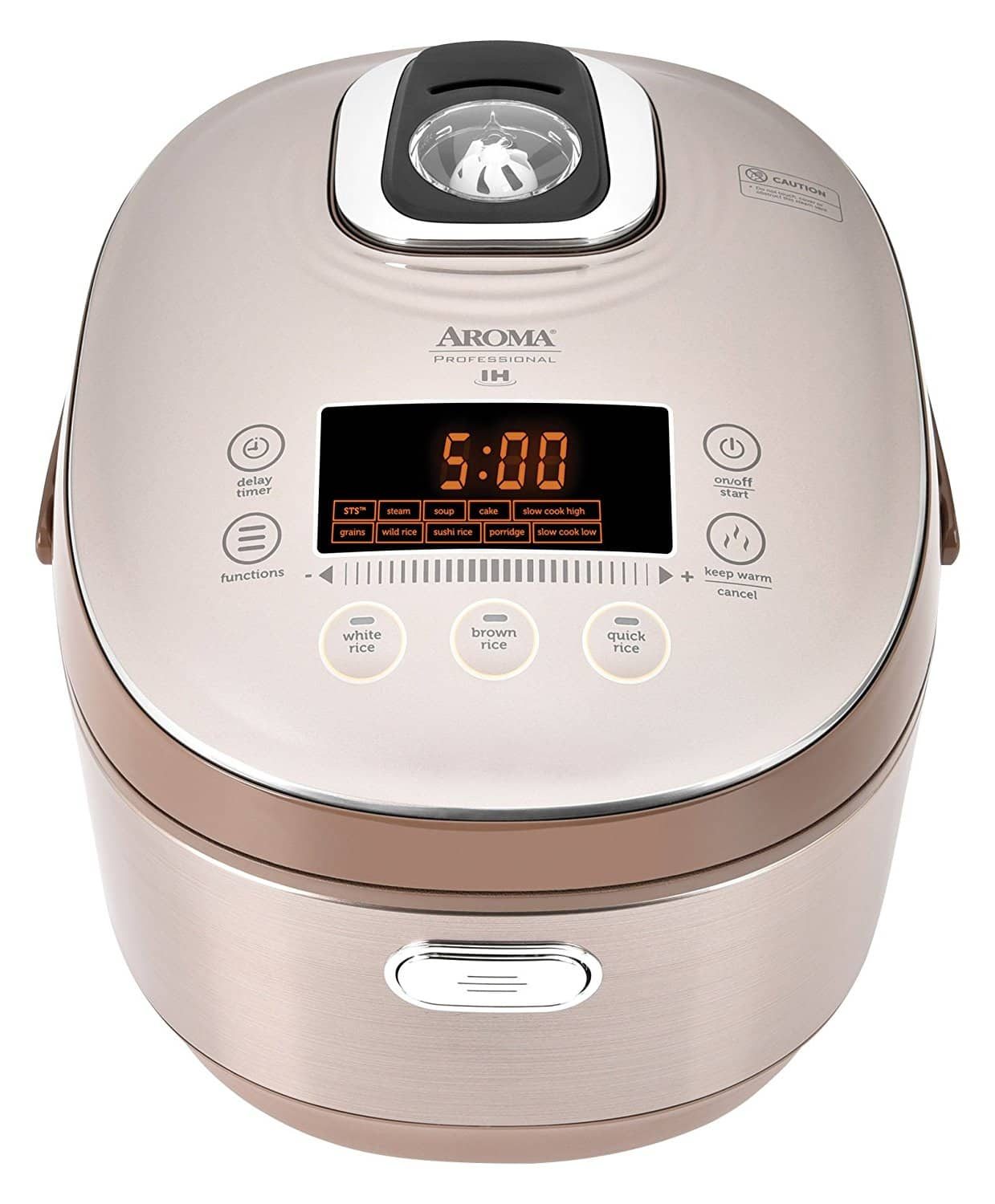 $100 off Aroma Housewares MTC-8010 Professional Induction Heating Rice Cooker/Multicooker, 20-Cup (Cooked) $200.34