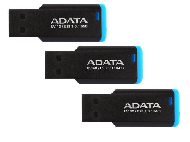 3 x ADATA 16GB UV140 Bookmarked, Capless USB 3.0 Flash Drive (AUV140-16G-RBE)    ADATA 16GB UV140 Bookmarked, Capless USB 3.0 Flash Drive (AUV140-16G-RBE) $14.99