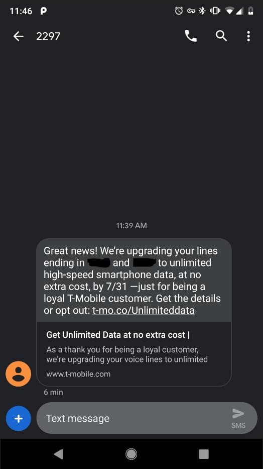 YMMV - T-Mobile free unlimited data upgrade - Simple Choice plans