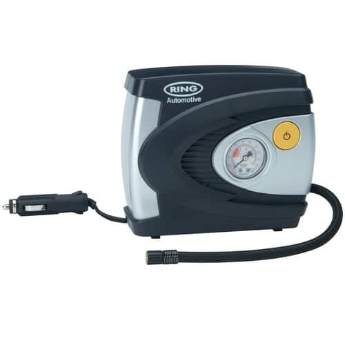 Ring RAC610 Analogue Tyre Inflator, 12V Air Compressor Tyre Pump, 4.5 Min Tyre Inflation, Valve Adaptors $10.95