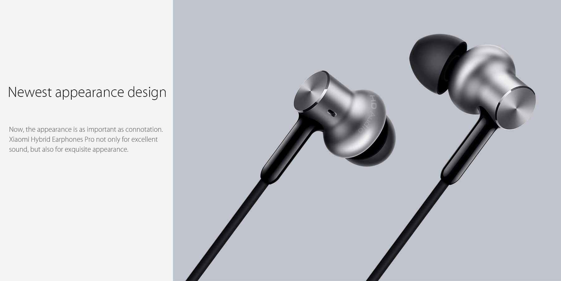 Xiaomi Hybrid Pro HD triple driver in ear headphones - $22.89 with free shipping