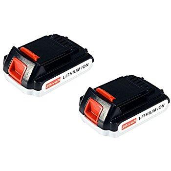 20v 2.0Ah Lithium-Ion Batteries for Black & Decker cordless tools 1 = $15.25  2 = $27.45 + FS for Prime