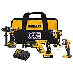 DEWALT DCK494P2 20V Max XR 4-Tool Combo Kit with 100-pc DEWALT DWA2FTS100 Screwdriving and Drilling Set $342.64 + FS @ Amazon (ships within 2-4 weeks) $343