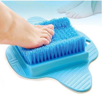 25% OFF Exfoliating Feet Cleaner Bathroom Scrub Brush Massager Spa $16.46