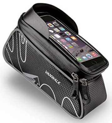 In Frame Bike Bag with Waterproof Touch Screen Phone Case [Black] $8.99