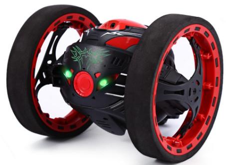 PEG SJ88 2.4GHz RC Bounce Car with Flexible Wheels Rotation LED Light $19.00