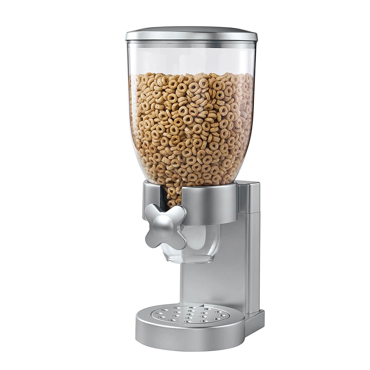 Zevro Indispensable Dry Food Dispenser, Single Control, Silver Prime $9.34