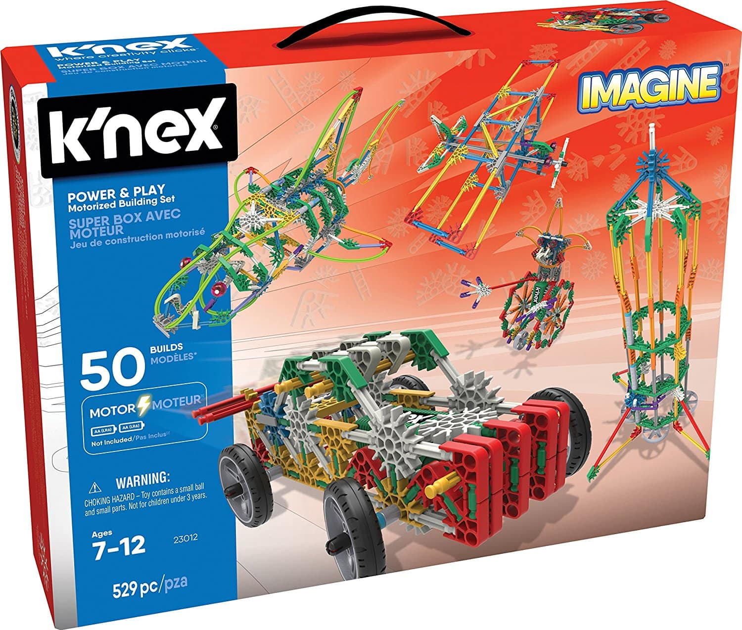 K'NEX Imagine – Power and Play Motorized Building Set – 529 Pieces  Prime $22.95
