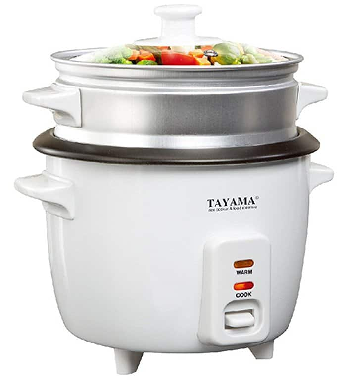 Tayama RC-8 Rice Cooker with 8 Cup Steam Tray, White Prime $11.43