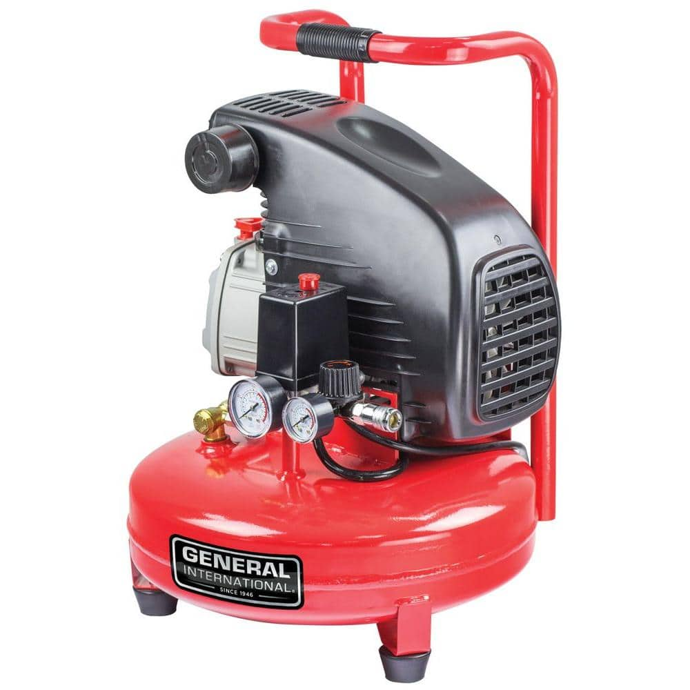 General International 4 Gal. 1.5 HP Oil-Lubricated Portable Electric Pancake Air Compressor FS $63