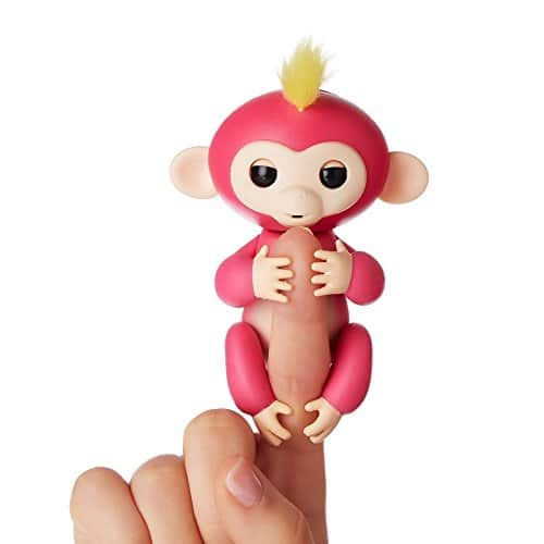 WowWee Fingerlings - Interactive Baby Monkey - Bella (Pink with Yellow Hair) $14.99