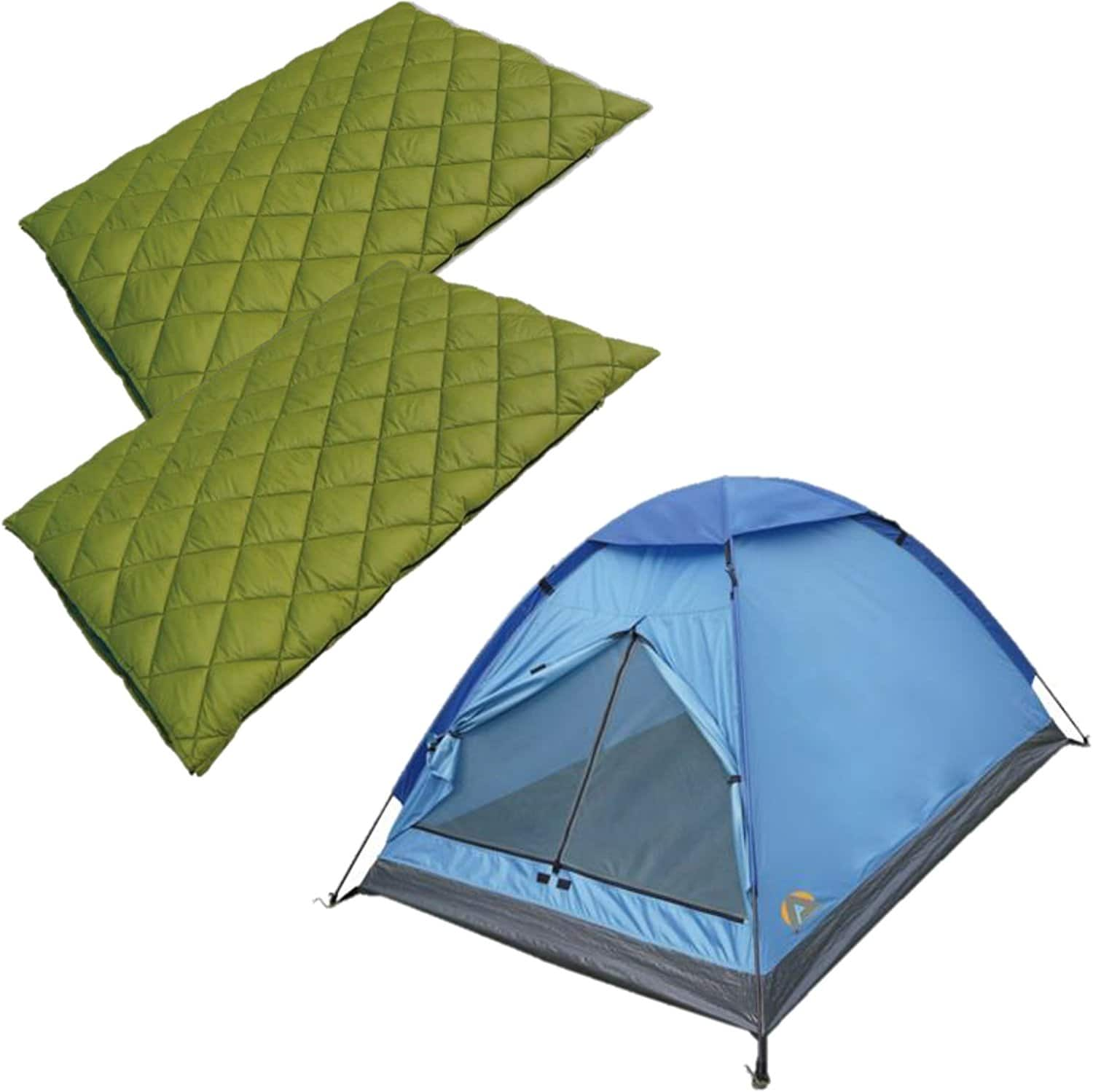 High Peak 3-Person Tent + (2) Florida 20 Sleeping Bags FS $29.98