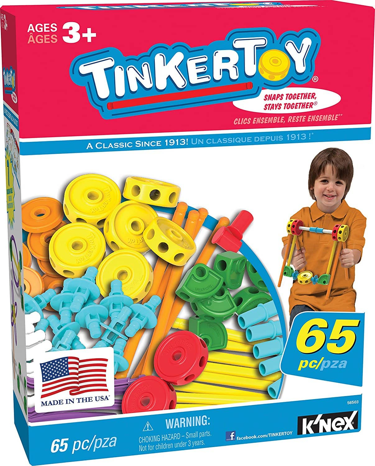 TINKERTOY 65 Piece Essentials Value Set Prime $10.82