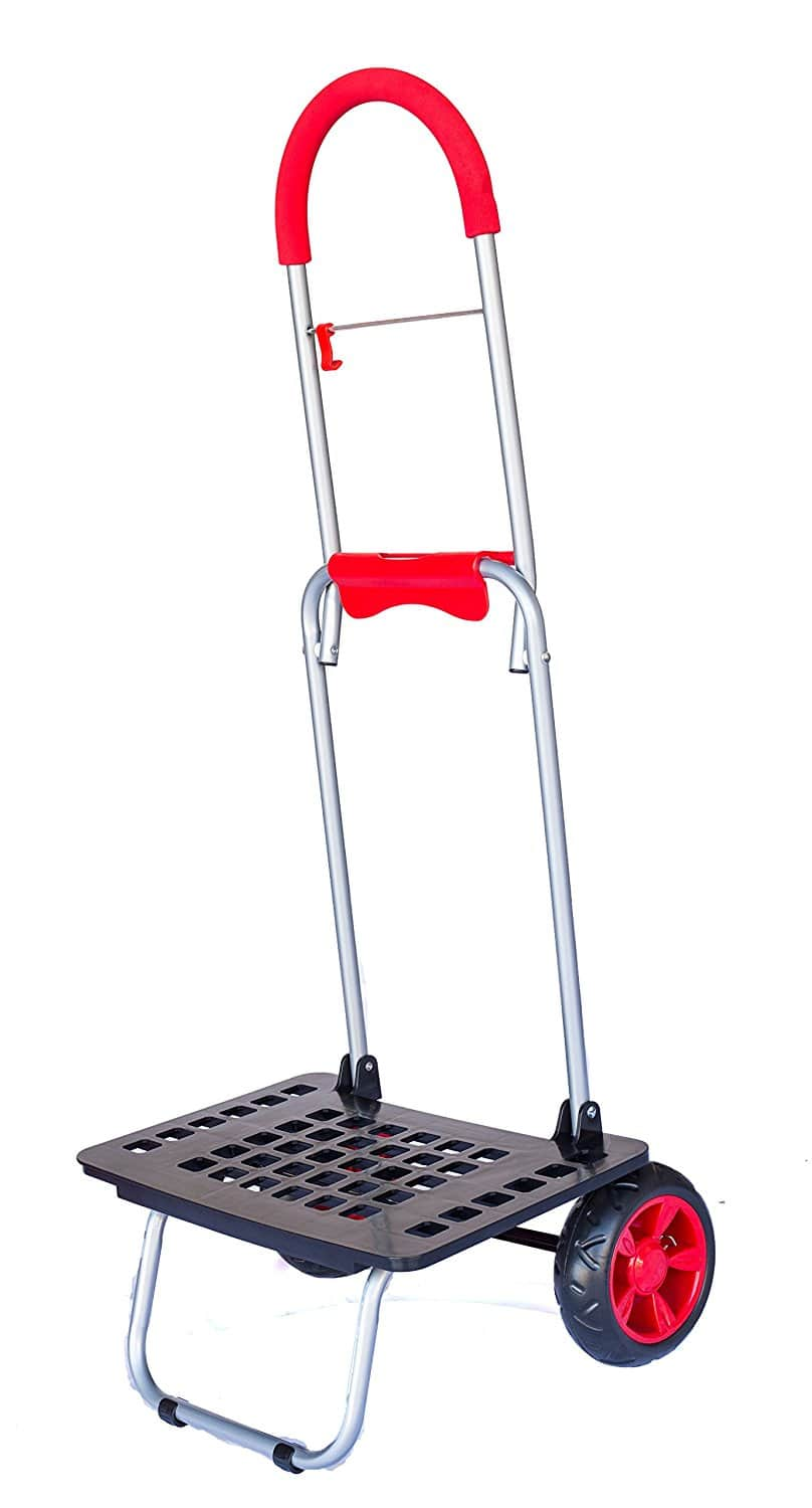 Trolley Dolly, Red Shopping Grocery Foldable Cart Prime $17.99